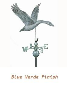 Feathered Goose Blue Verde-Standard