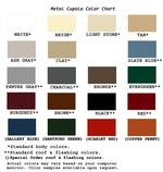 Metal Cupola Color Options